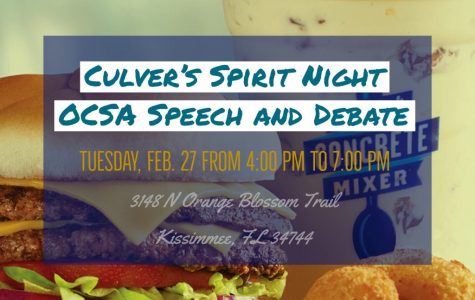 Eat and Support OCSA Speech and Debate Team