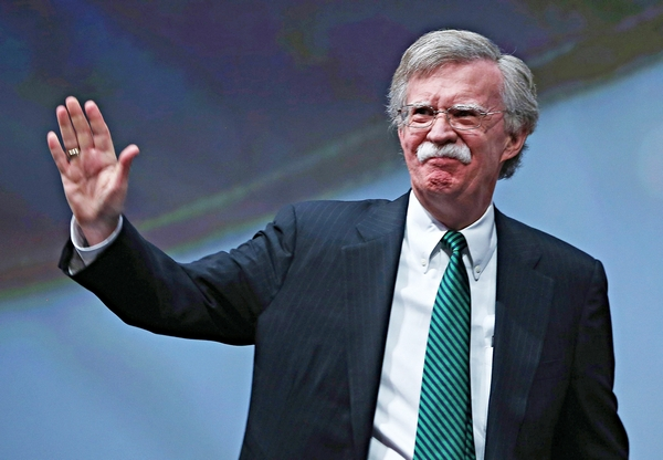 HOUSTON, TX - MAY 03:  Former U.S. ambassador to the United Nations John Bolton speaks during the 2013 NRA Annual Meeting and Exhibits at the George R. Brown Convention Center on May 3, 2013 in Houston, Texas.  More than 70,000 peope are expected to attend the NRA's 3-day annual meeting that features nearly 550 exhibitors, gun trade show and a political rally. The Show runs from May 3-5.  (Photo by Justin Sullivan/Getty Images)