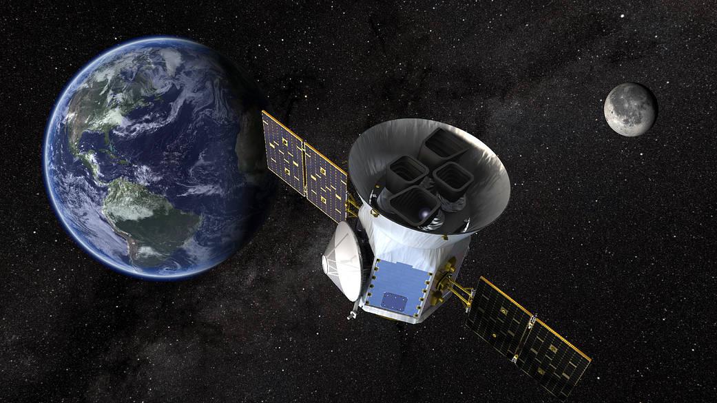 Artist concept of TESS by NASA's Goddard Space Flight Center.