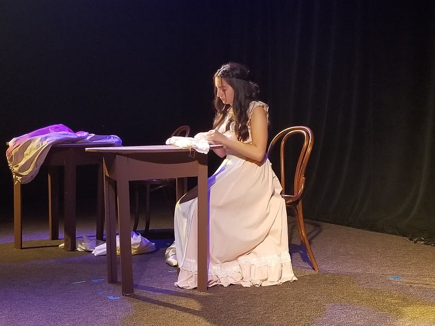 Samantha Sosa playing Fantine in a 10 minute adaptation of Les Miserables.