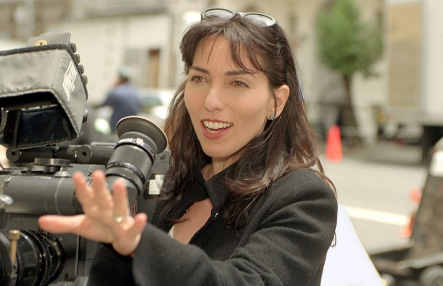 """Audrey Wells directing """"Under the Tuscan Sun"""" in 2003."""
