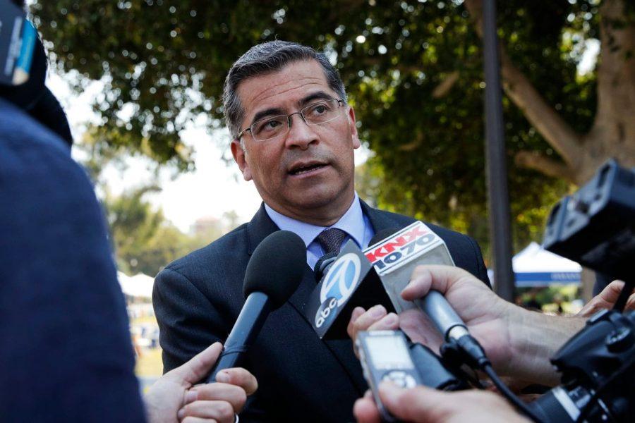 California Attorney General Xavier Becerra (D) is the defendant in the industry lawsuit. (Jae C. Hong/AP)