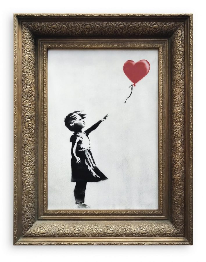 Banksy%27s+%22Girl+With+Red+Balloon%22+painting+shreds+itself+at+Sotheby%27s+auction.%0APhoto+credits%3A+www.sothebys.com