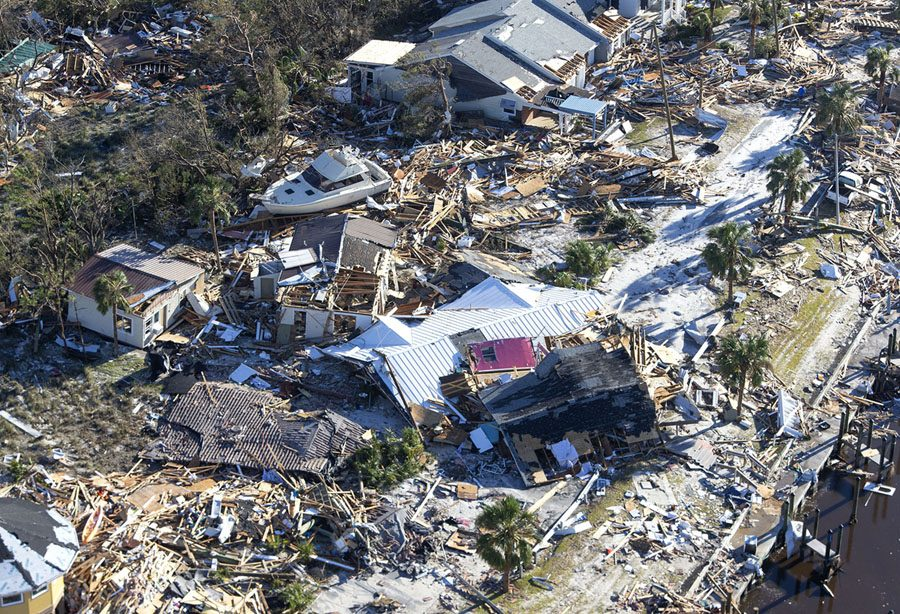 MEXICO BEACH, FL - OCTOBER 12: Homes and businesses along US 98 are left in devastation by Hurricane Michael on October 12, 2018 in Mexico Beach, Florida. The deadly hurricane made landfall along the Florida Panhandle Wednesday as a Category 4 storm. (Photo by Mark Wallheiser/Getty Images)
