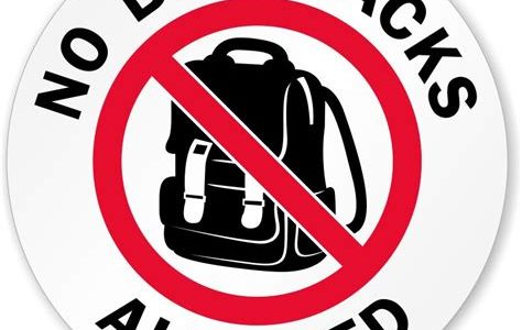 Backpacks and Larger Bags are no Longer Allowed in School Events