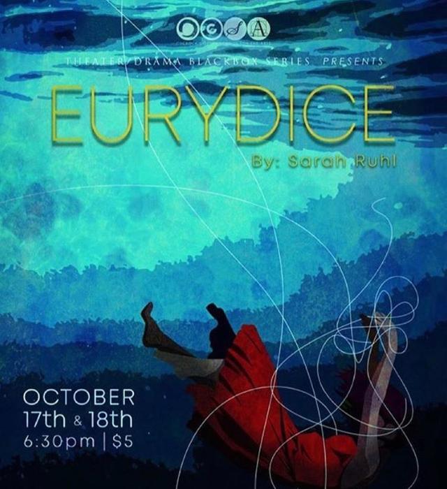 Promotional art for OCSAs black-box production, Eurydice.