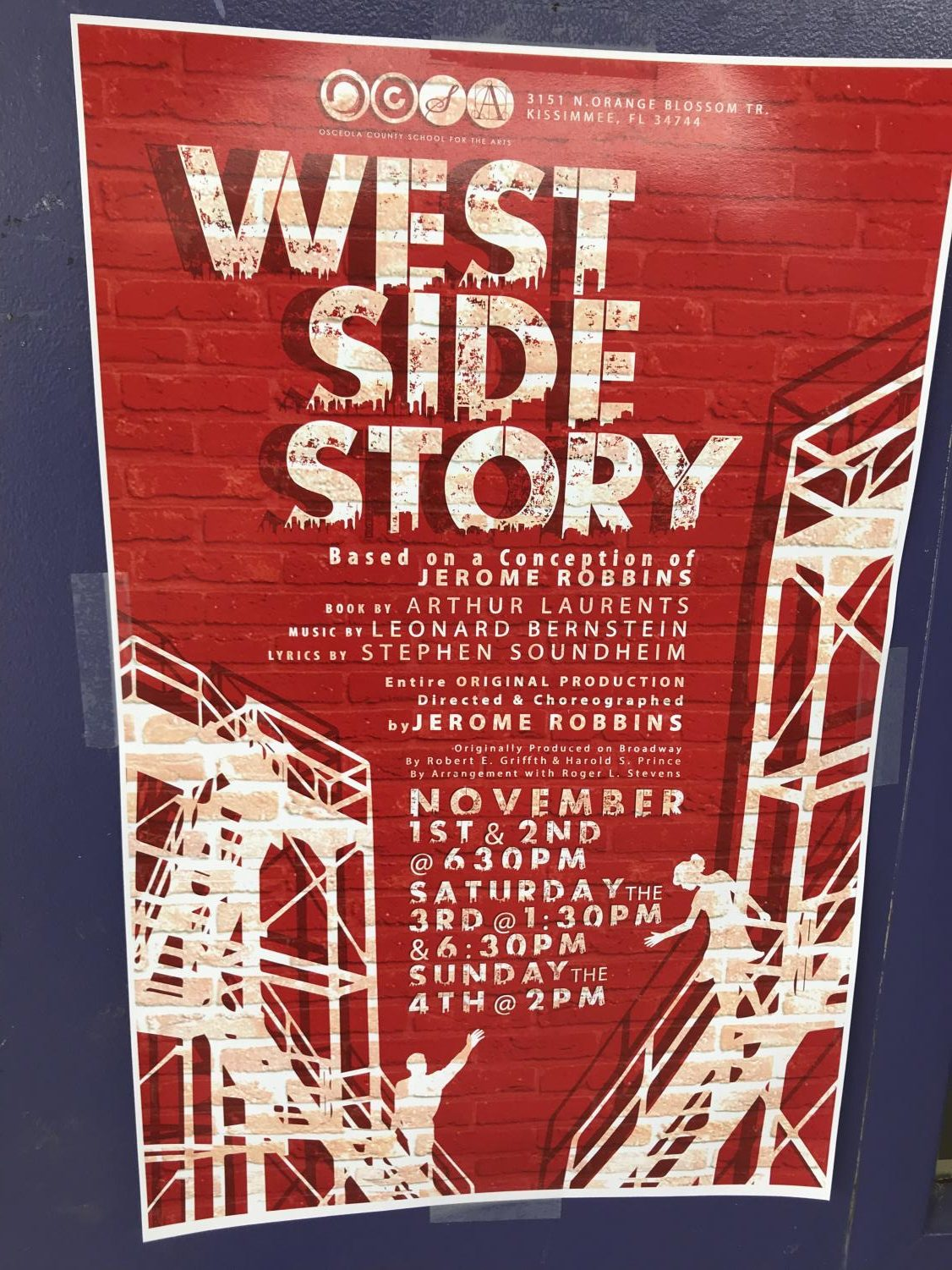 West Side Story performances are being held.