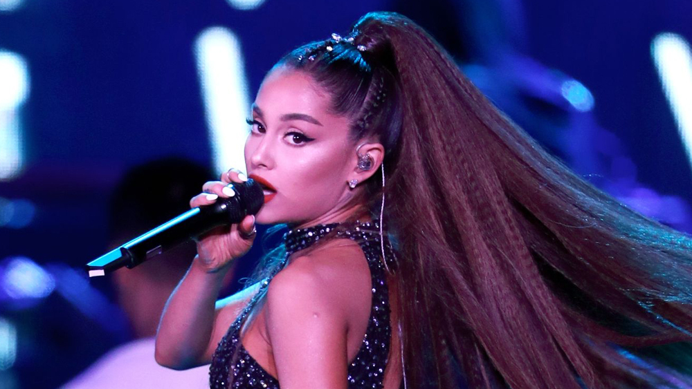 Ariana Grande performs onstage during the 2018 iHeartRadio