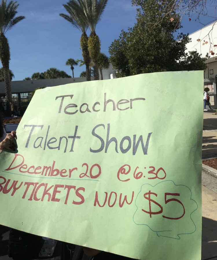 The Teacher Talent Show, occurring tonight in the auditorium due to the storm on December 20th, the Show's original date.
