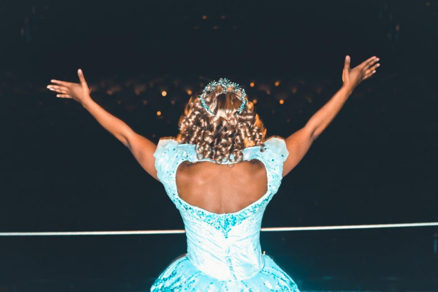 Brittney Johnson plays Glinda in Wicked