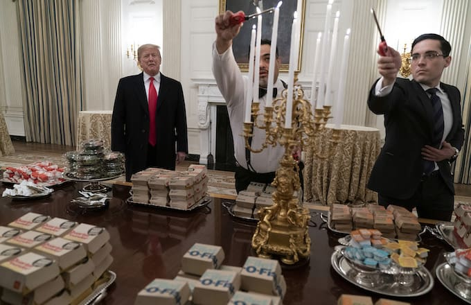 A Feast Fit for the President? Trump Buys Fast Food for Clemson Tigers Visit to White House