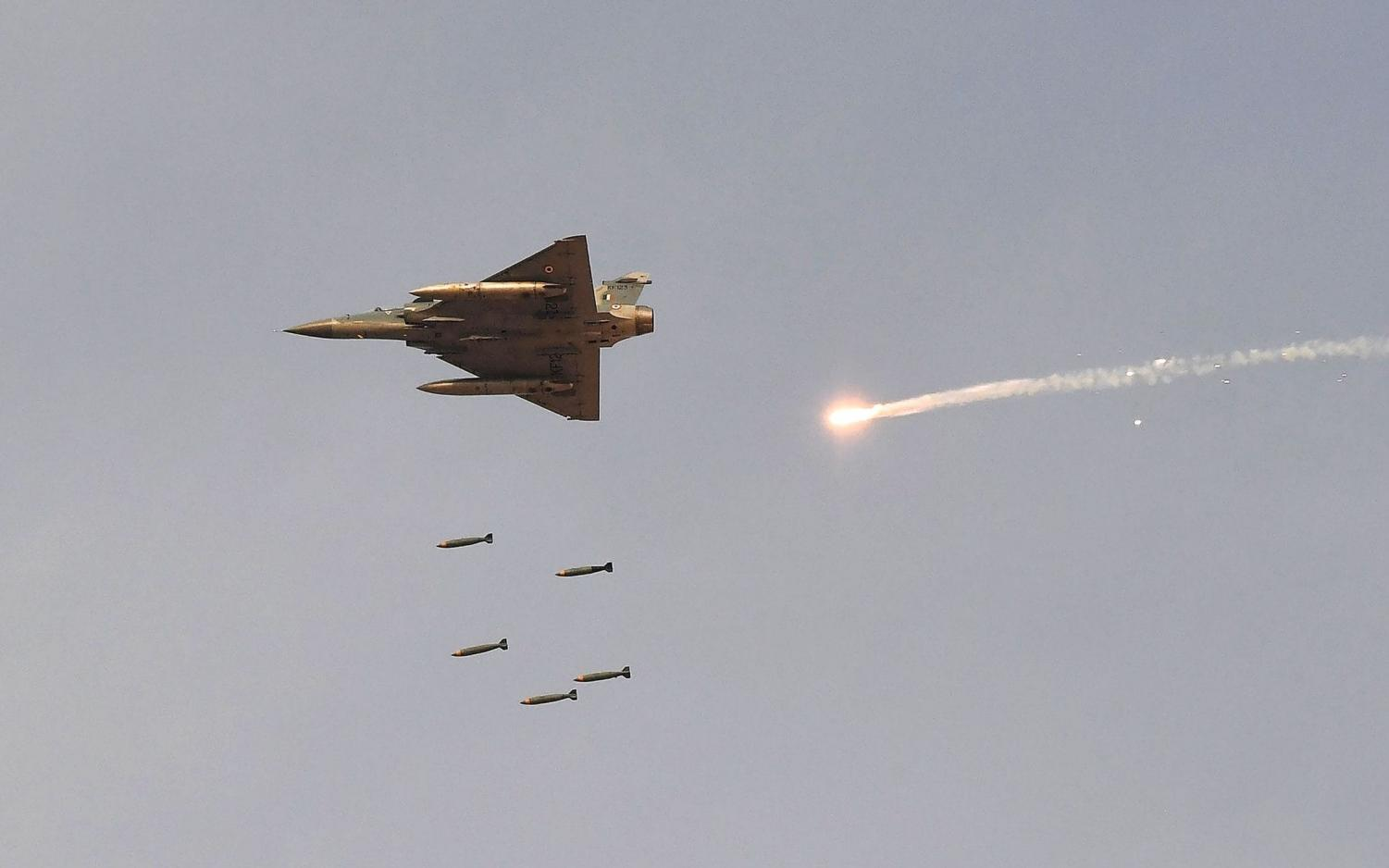 Indian Air Force fighter aircraft during the Vayu Shakti fire power earlier this month.