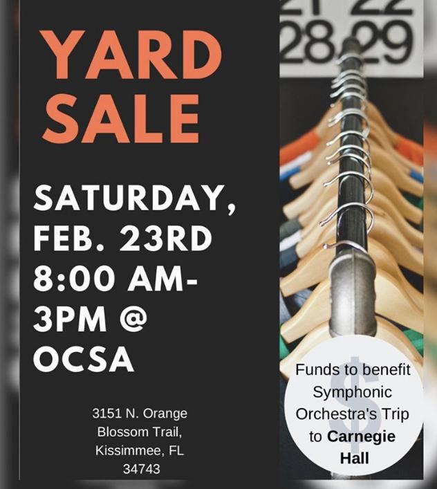 OCSAs Symphony Yard Sale