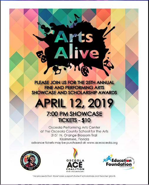 The+25th+Annual+Arts+Alive+will+be+held+at+the+Osceola+County+School+for+the+Arts.
