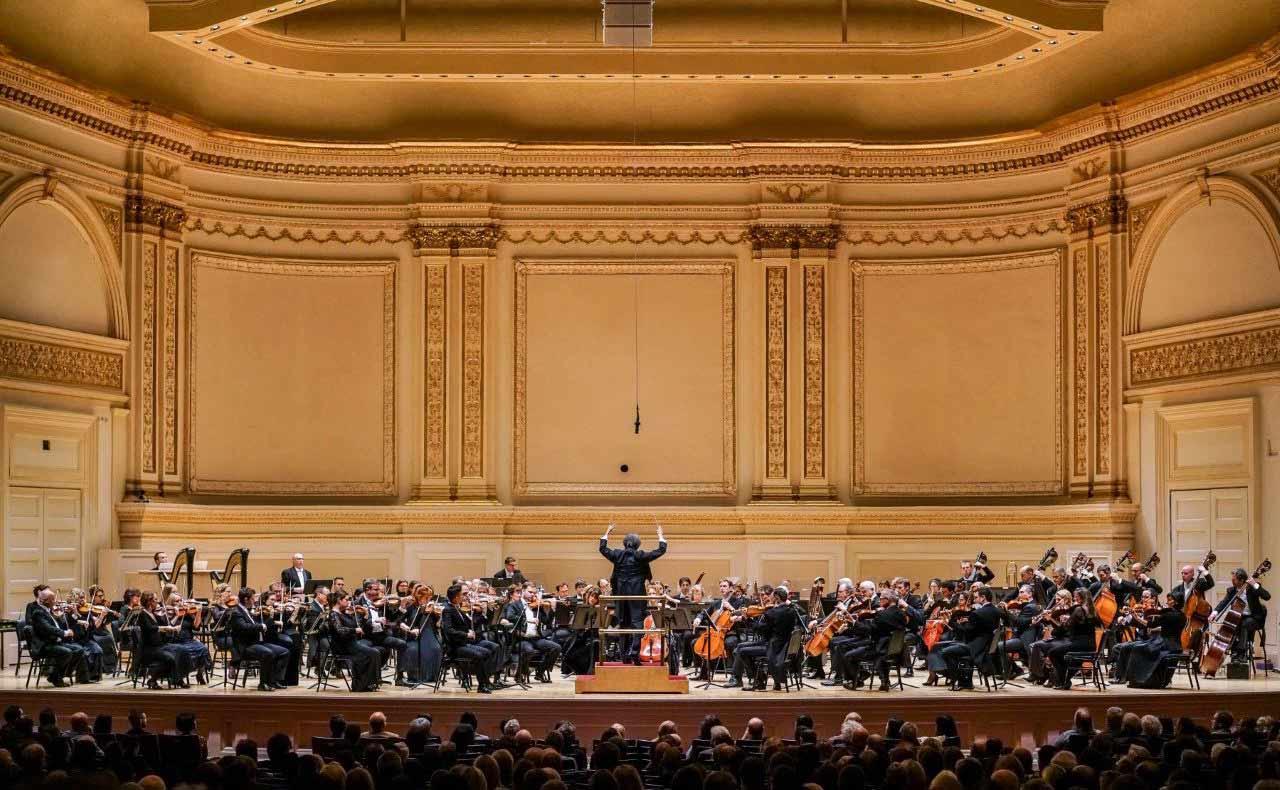 Band performing at Carnegie Hall.