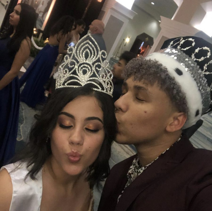 Prom King (Jabari Lewis) and Prom Queen (Arianna Ortiz)