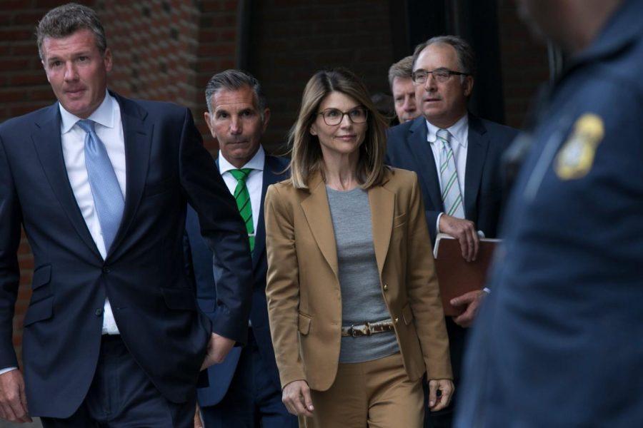 Lori Loughlin leaving Federal Court.