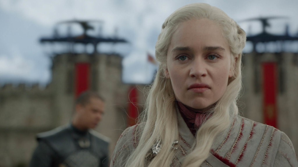 Daenarys Targaryen (Emilia Clarke) after the death of Missandei.
