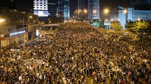 Hundreds of thousands of protesters gathered in Hong Kong against the extradition bill.