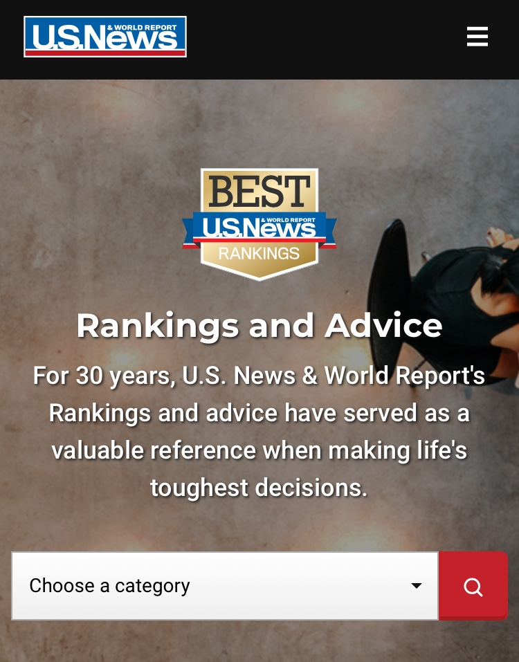 The US News and World Report has released its Best National University and Best Liberal Arts College rankings for the 2020 year.