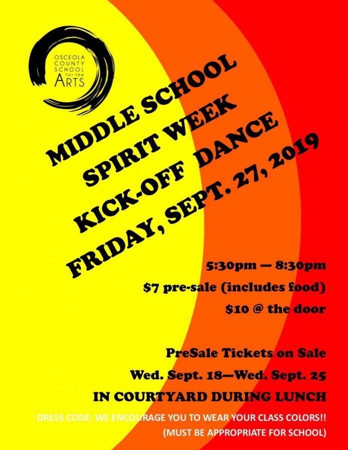 Middle School Dance is Tomorrow!