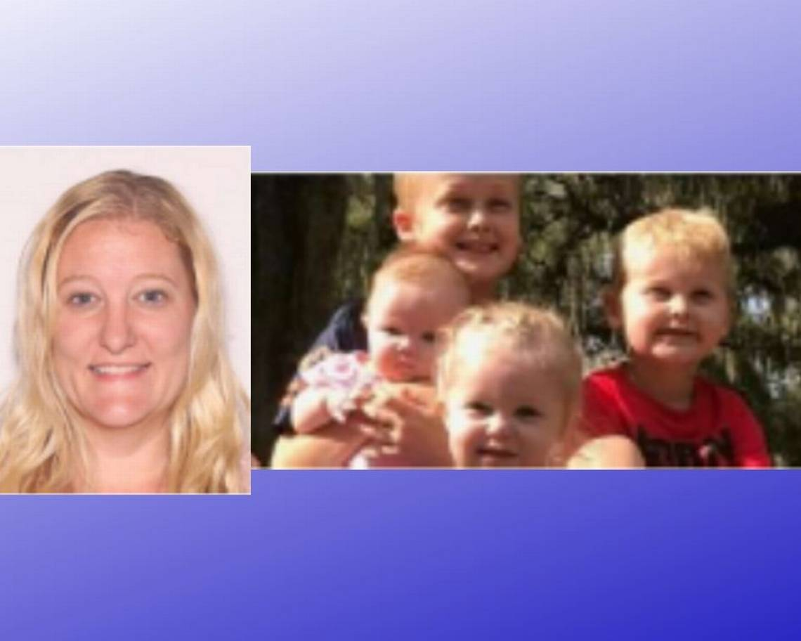 Casei Jones age 32, (left) and her four children (right).