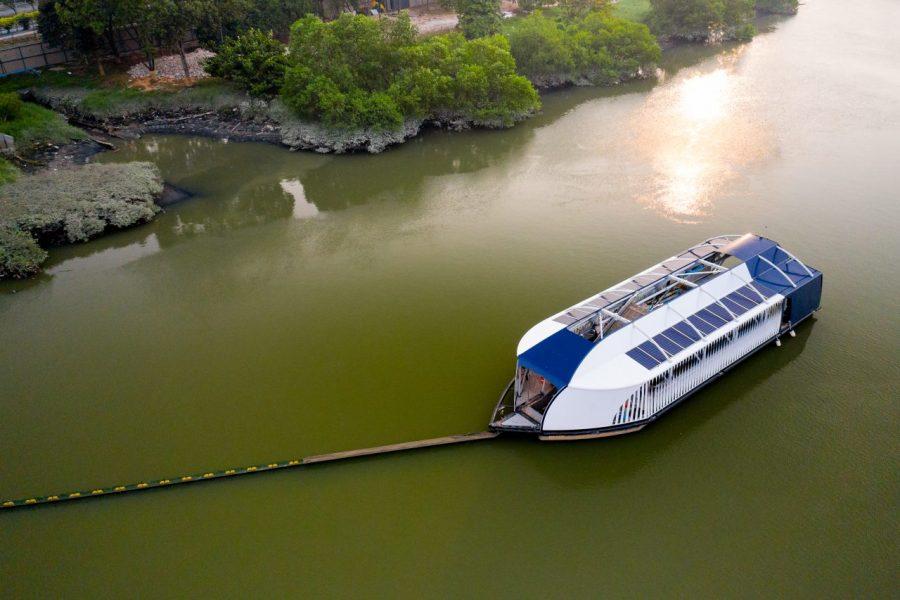 Interceptor™ 002 in Klang river, Selangor, Malaysia.