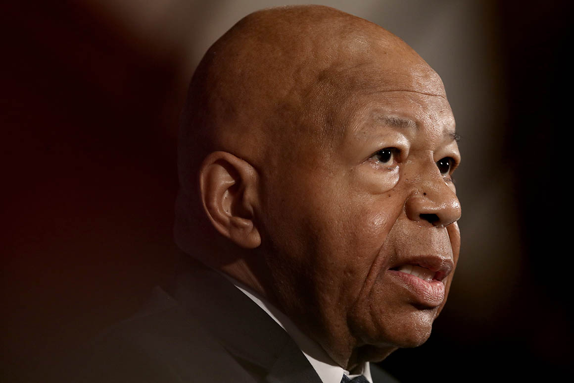 WASHINGTON, DC - AUGUST 07:  House Oversight ant Reform Chairman Rep. Elijah Cummings speaks at the National Press Club August 7, 2019 in Washington, DC. Cummings addressed members of the organization during a luncheon and touched on a number of issues including ongoing investigations of U.S. President Donald Trump. (Photo by Win McNamee/Getty Images)