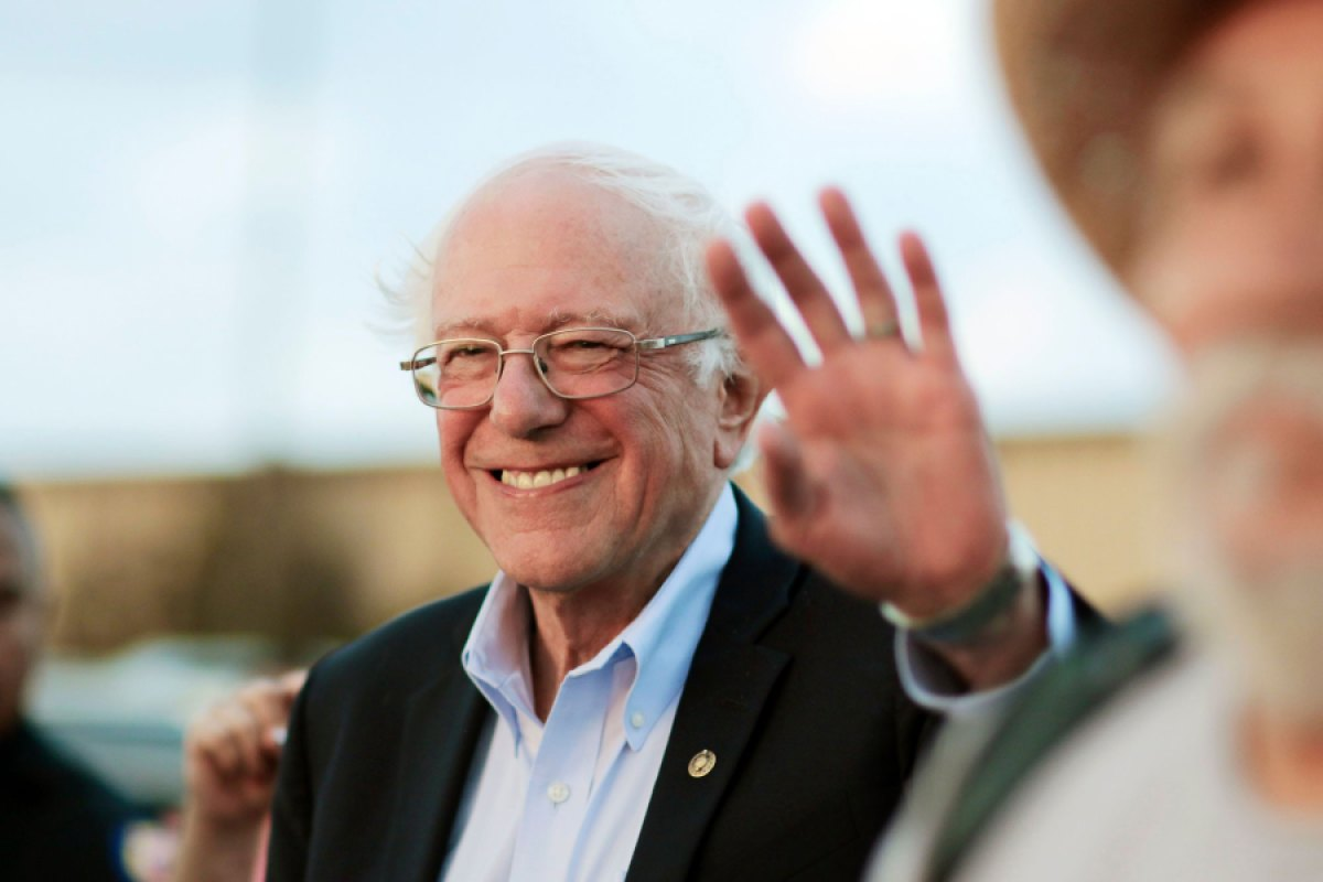 Democratic presidential candidate U.S. Sen. Bernie Sanders waves to supporters after arriving at the Comanche Nation Complex for the annual Comanche Nation Fair Powwow, in Lawton, Oklahoma.    Election 2020 Sanders, Lawton, USA - 22 Sep 2019