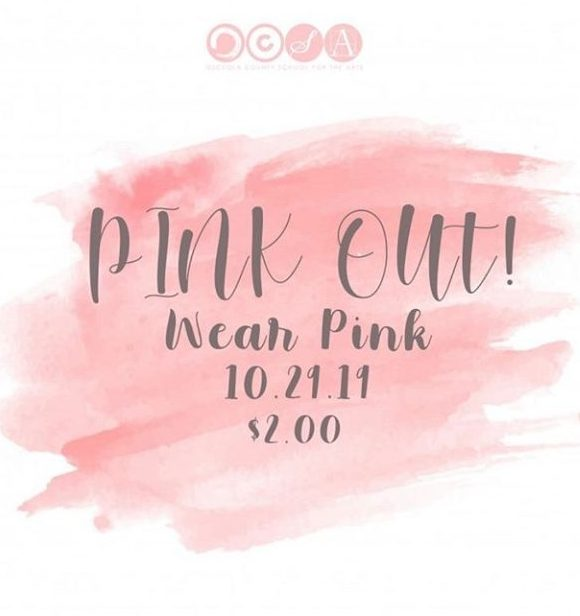Instagram Post of Breast Cancer Dress down day posted on official page.