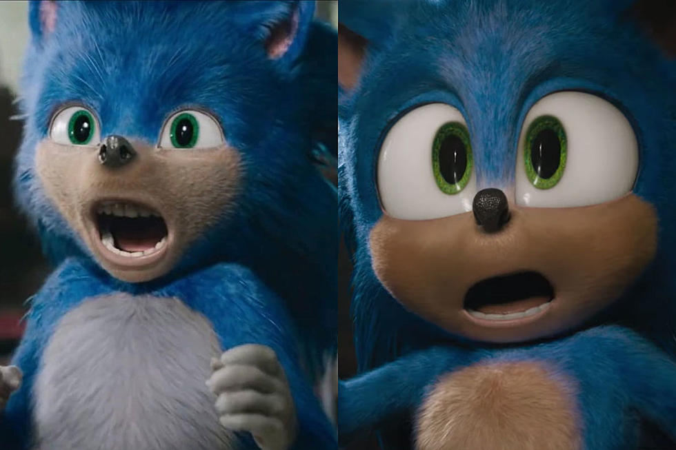 Image taken from ScreenCrush.com of Sonic the Hedgehog trailer comparison