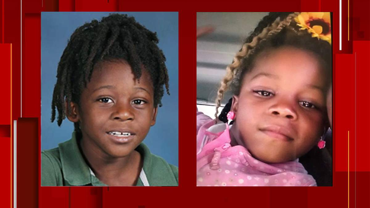 Image of missing kids Bri'ya and Braxton taken from News4Jax