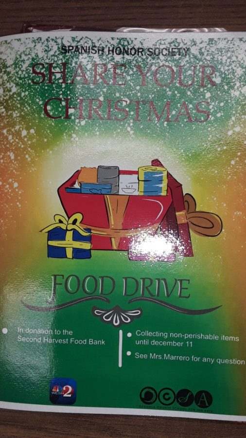 Flyer for NHHS food drive
