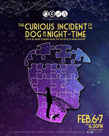 "On Thursday, February 6th, and Friday, February 7th, the OCSA Drama Department will be performing ""The Curious Incident of the Dog in the Night Time"" at 6:30 pm."