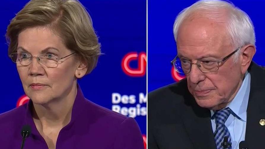 Bernie Sanders V.S. Elizabeth Warren Debate