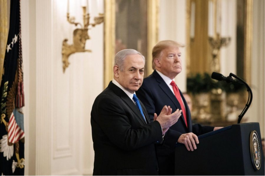 Prime+Minister+Benjamin+Netanyahu+of+Israel+and+President+Donald+J.+Trump+unveiled+a+peace+plan+for+the+Middle+East+at+the+White+House+on+Tuesday