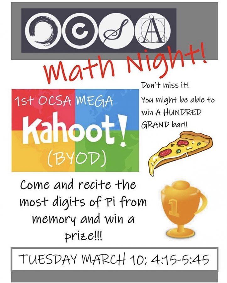 Math Night at OCSA