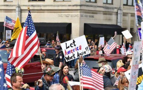 The protest happening in Harrisburg, Pennsylvania.