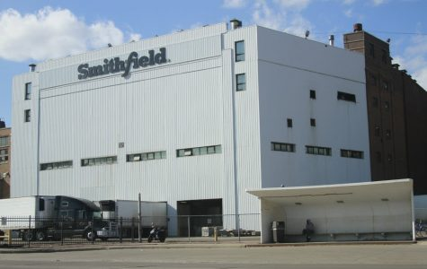 Smithfield Foods' pork processing plant closed Sunday, due to an outbreak of COVID-19 among its workers.