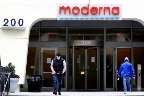 Moderna headquarters in Cambridge, Massachusetts.