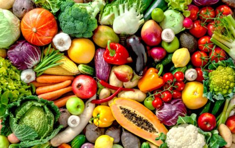 Photo of fruits and vegetables.