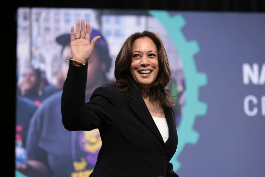 Senator+Kamala+Harris+waving+at+the+audience+of+the+2019+National+Forum+on+Wages+and+Working+People+in+Las+Vegas%2C+Nevada.