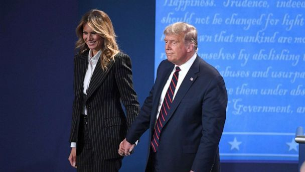President+Donald+Trump+and+First+Lady+Melania+Trump+leave+the+first+presidential+debate+on+Tuesday%2C+September+29.
