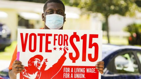 An advocate for increasing the minimum wage to $15