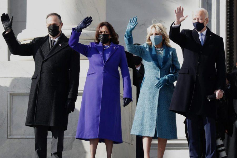 President Joe Biden and Vice President Kamala Harris with their spouses.