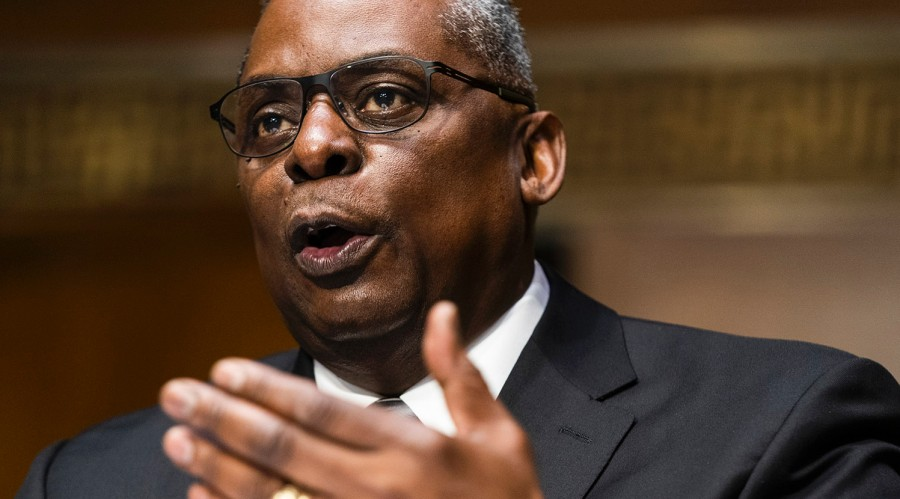 Secretary of Defense nominee Lloyd Austin, speaking during his confirmation hearing before the Senate Armed Services Committee on Capitol Hill, Tuesday, Jan. 19, 2021.