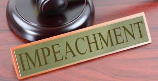 Impeachment desk plate.