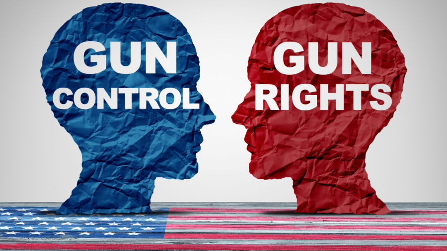 The fight between gun control and gun rights, resulting in controversy between several states on the enactment of gun waiting periods.