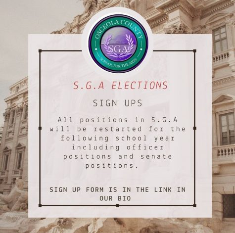 In order to run for any of the positions on the SGA, students must head over to the SGA's social media (@ocsasga) and click the link in the bio, fill out the forum, and submit it.